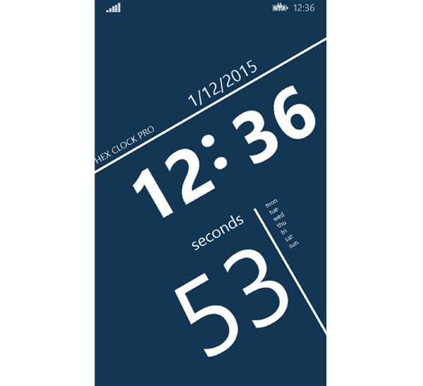 Hex Clock Pro for Windows Phone 81