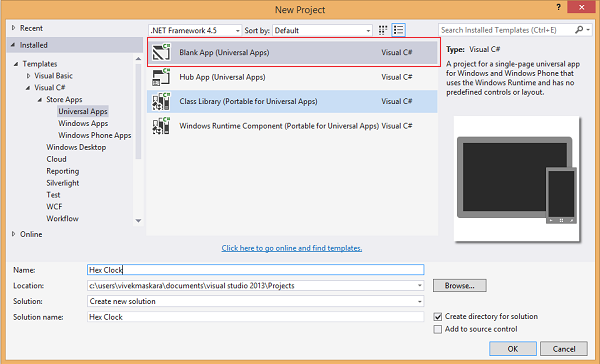 Creating Your First Universal Windows App