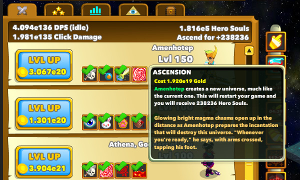 Clicker Heroes Ascension New Game  Mechanic