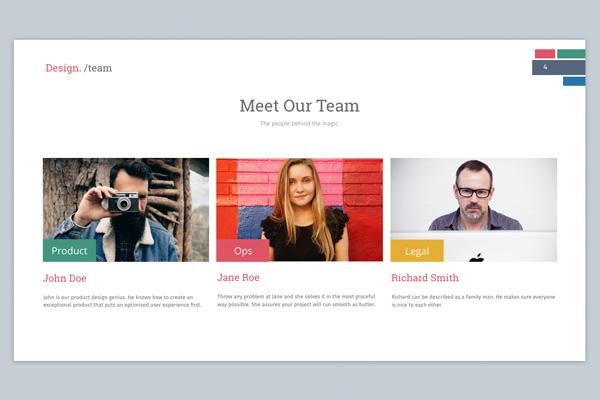 Team slide design for Keynote