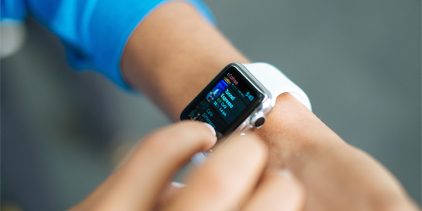 An Apple Watch is often used on the go