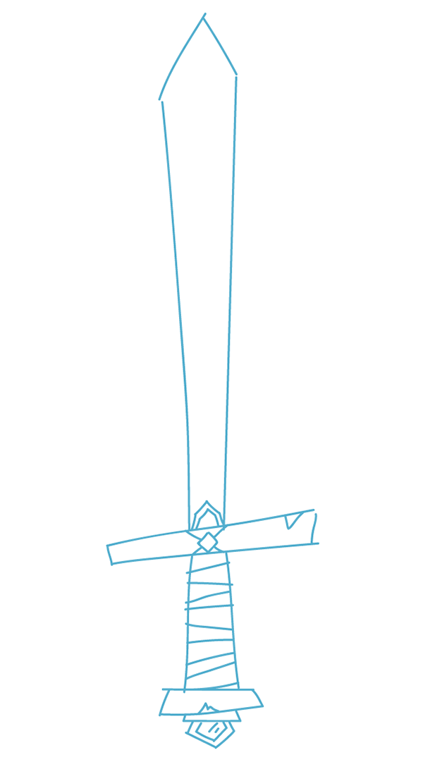 rough sketch of the sword