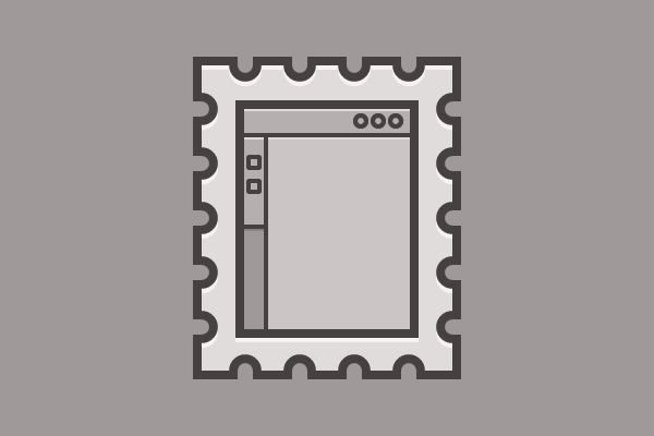 stamp with basic interface and buttons