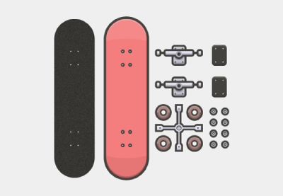 Skateboarder kit preview