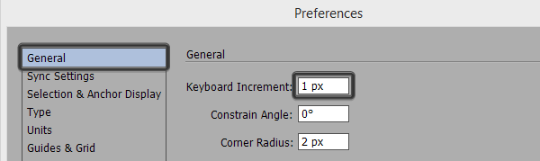 keyboard increment settings
