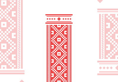 How to create a traditional romanian inspired pattern bookmark small preview1