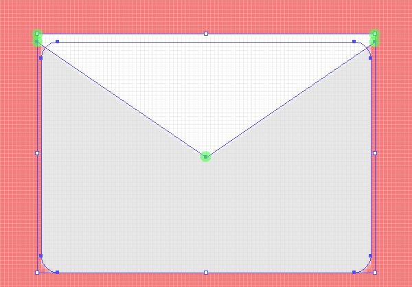 creating the email icons top folded section
