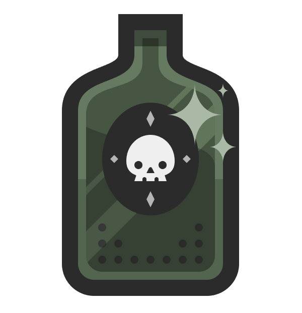 adding the star-shaped highlights to the bottle icon