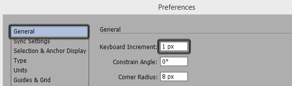 adjusting the keyboard increment settings