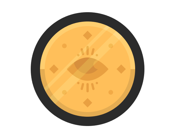 adding the diagonal reflections to the coin icon