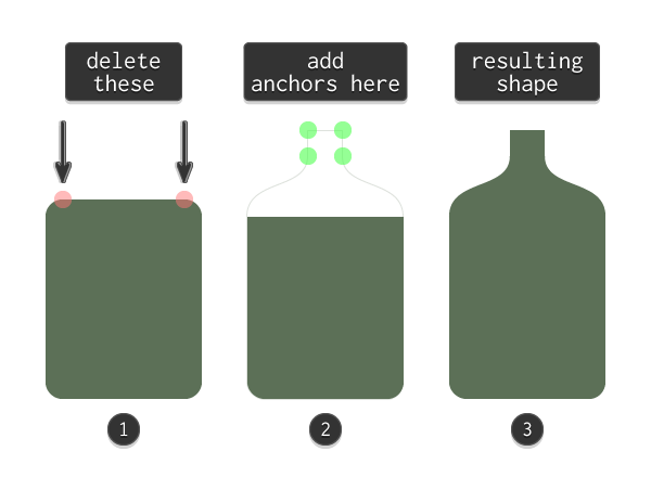 adjusting the bottle icons base shape
