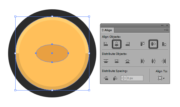 creating the base shape for the coin icons eye
