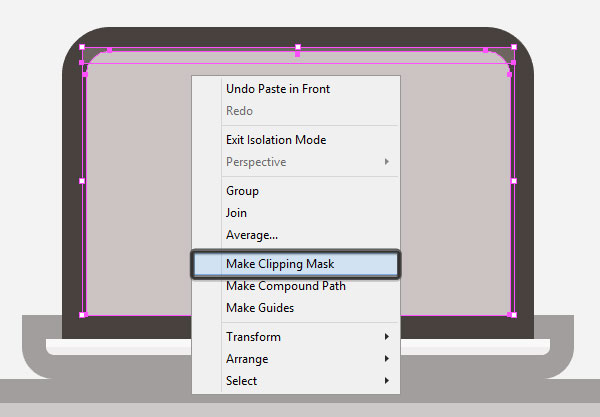 creating a Clipping Mask for the lids highlight
