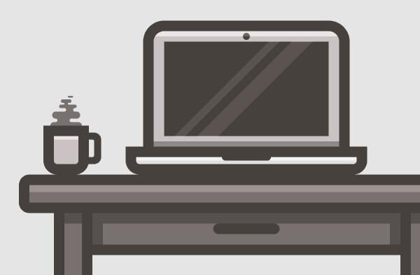 Ilustración de Escritorio usando Adobe Illustrator