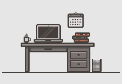 How to create a desk scenary illustration in adobe illustrator small preview