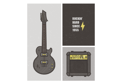 How to create a flat set of instruments in adobe illustrator small preview image