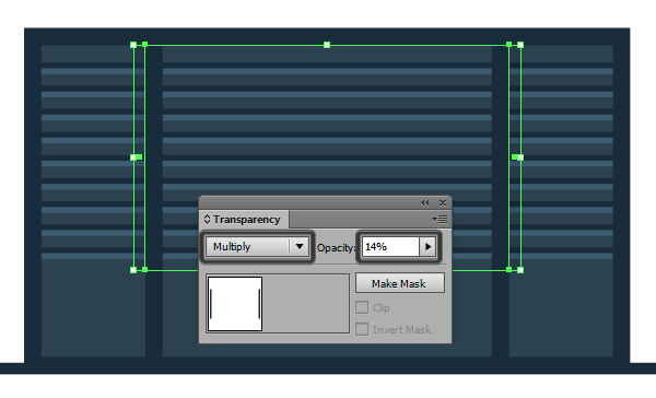 adding side shadows to the bottom section dividers