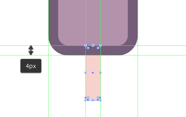 creating the stick for the first icon