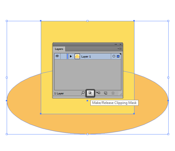 creating a clipping mask using the layers panel