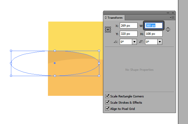 editing the width of the second field using the direct selection tool