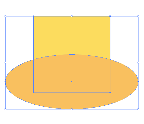 positioning the ellipse field onto the yellow square
