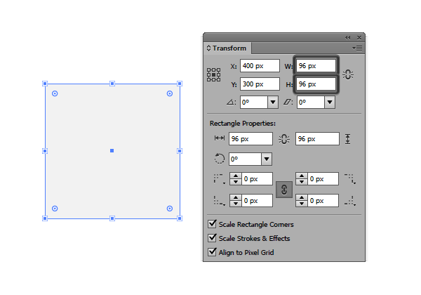 creating the icons base grid