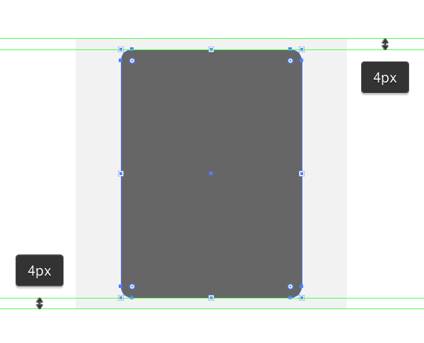 positioning the main shape for the document icon created using the offset path method