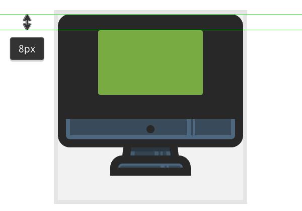 adding the interface base shape onto the iMac icon