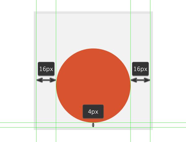 creating the medal icons base orange shape