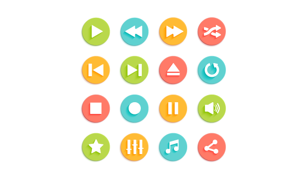 example of simple ui icons