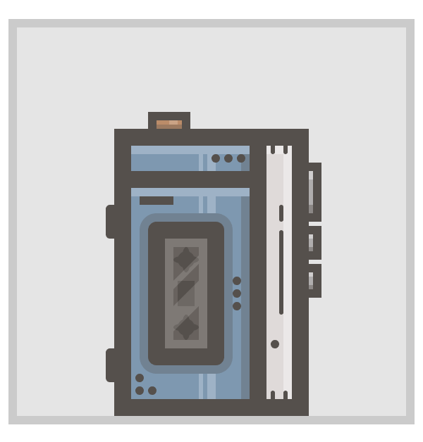 adding the little hinges to the walkman icon