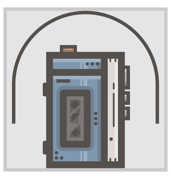 creating the headband for the walkman icon