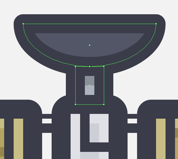 adding the antennas main shapes to the satellite icon