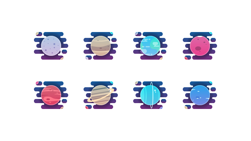 How to Create a Solar System Planets Icon Pack in Adobe Illustrator