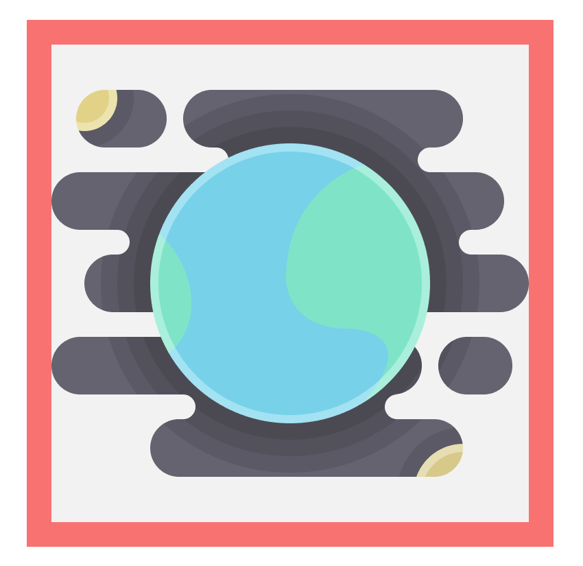 adding the ring-like highlight to the earth icon