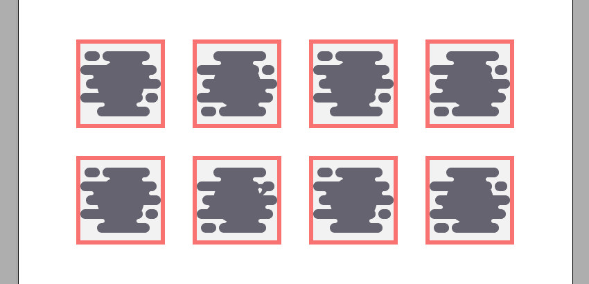 creating the copies after the icons required for the gradient overlays