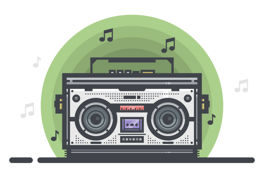 How to Create a Boombox Illustration in Adobe Illustrator
