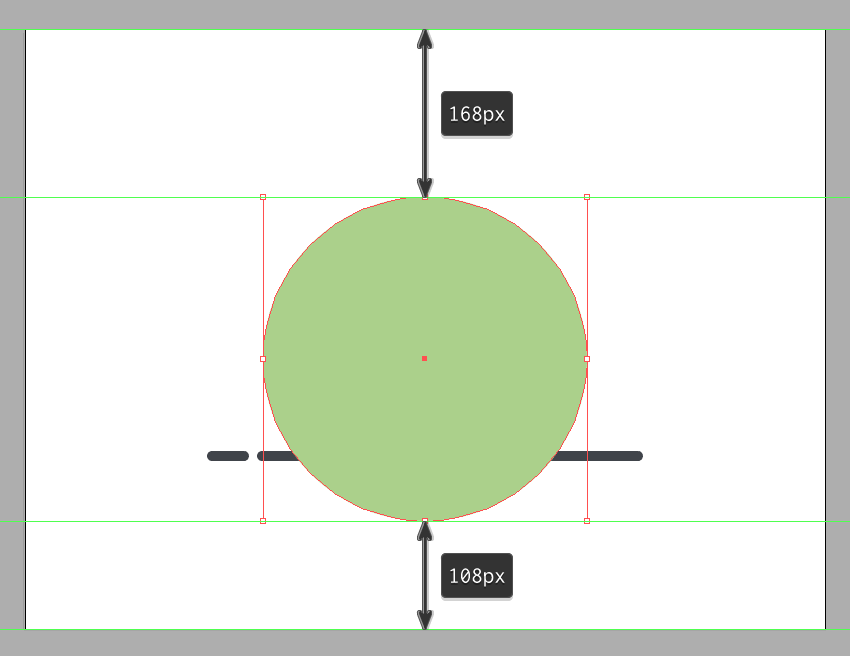creating the main circle for the background