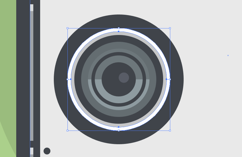 adding the main shape for the speakers highlight and shadow