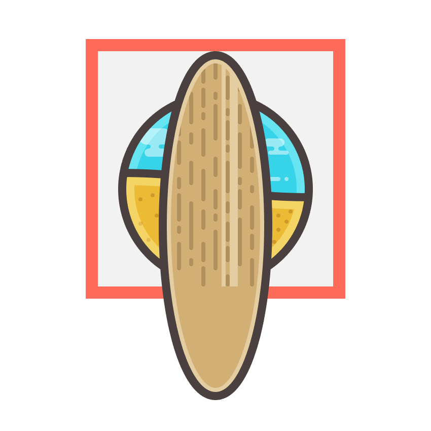 adding the two vertical highlights to the surfboard icon