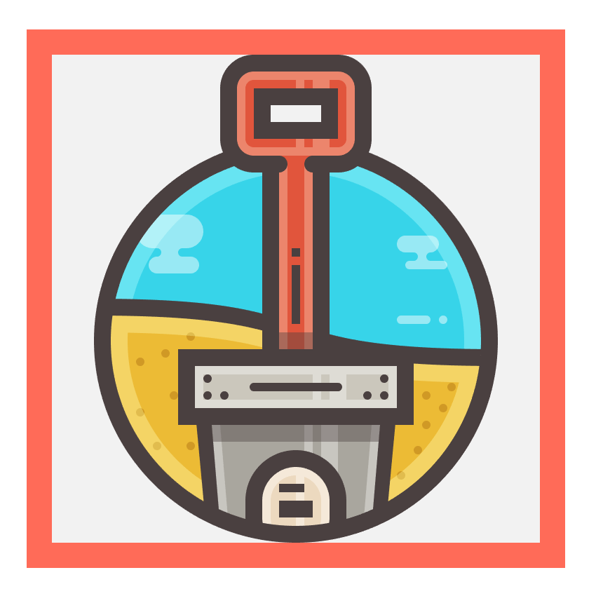 sand bucket icon finished