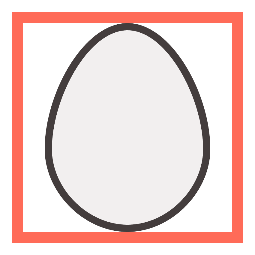 adding the outline to the egg icons main shape