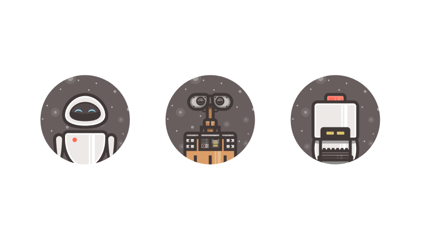 How to Create a Set of Wall-E Inspired Avatar Icons in Adobe Illustrator