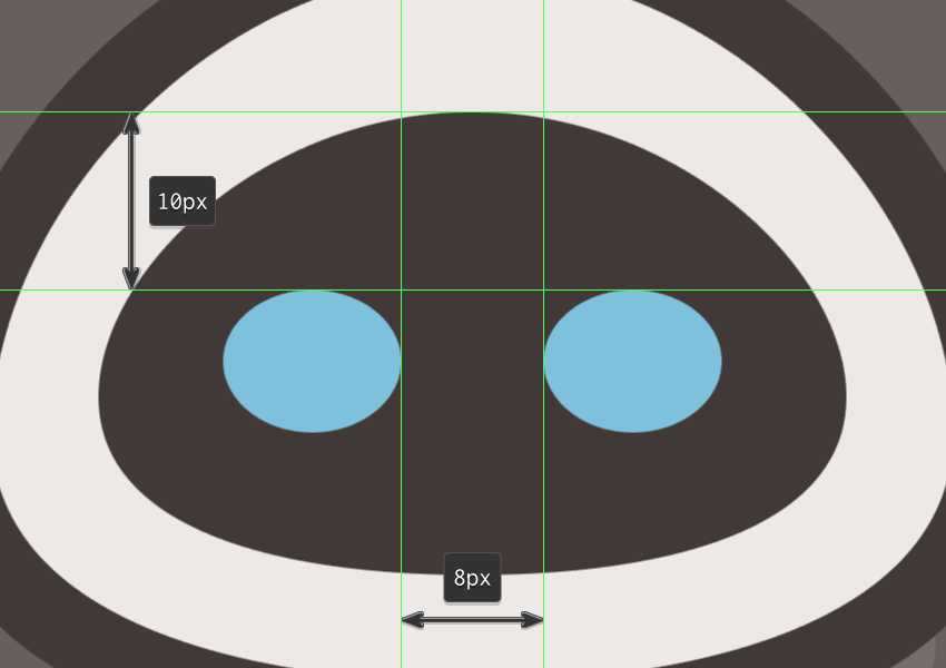 creating the main shapes for eves eyes