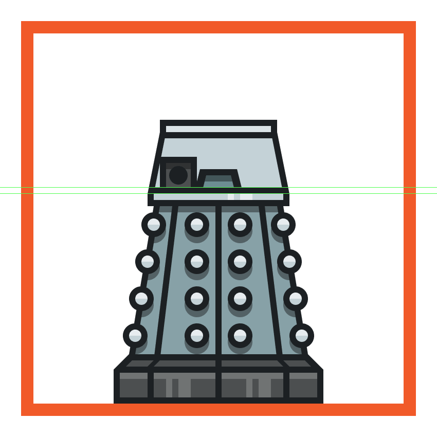 creating and positioning the daleks left arm