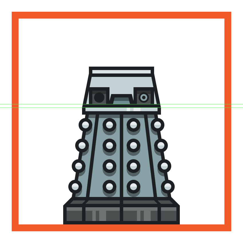 creating and positioning the daleks right arm