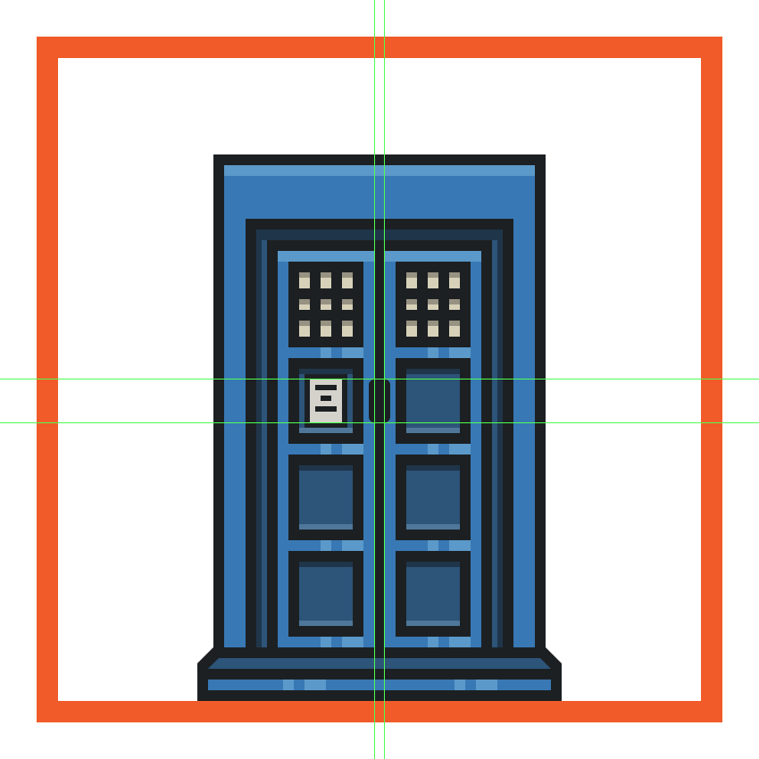 creating and positioning the door handles onto the time machine