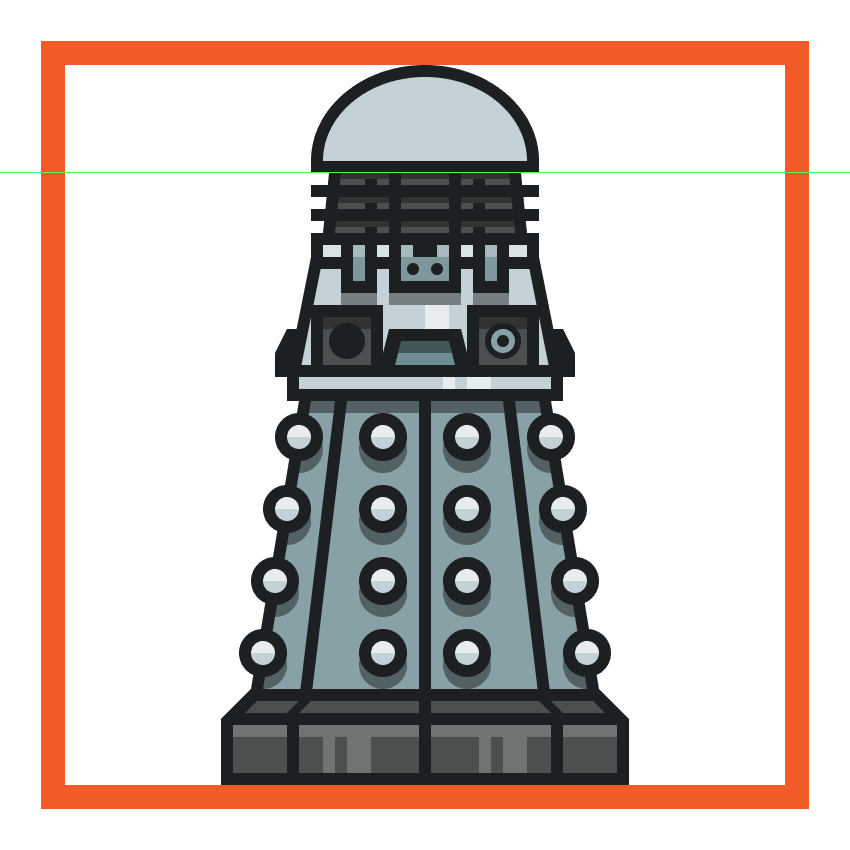creating and positioning the main shapes for the daleks head