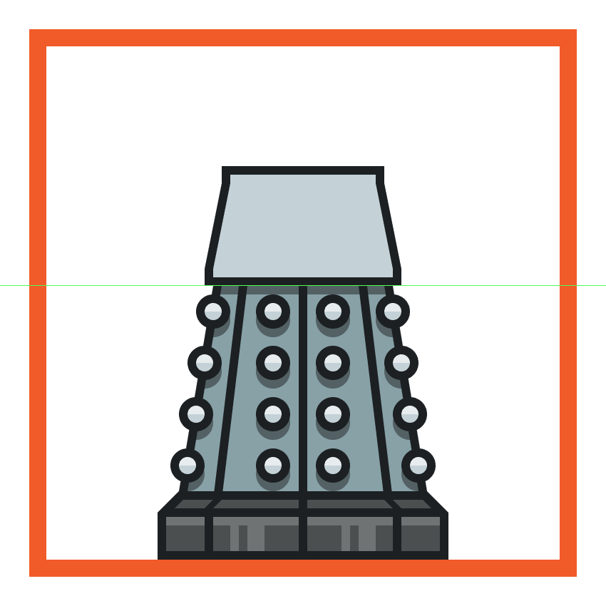 creating and positioning the main shapes for the daleks upper body