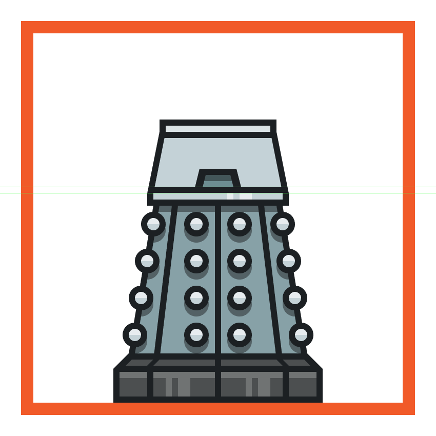creating and positioning the middle insertion onto the daleks upper body